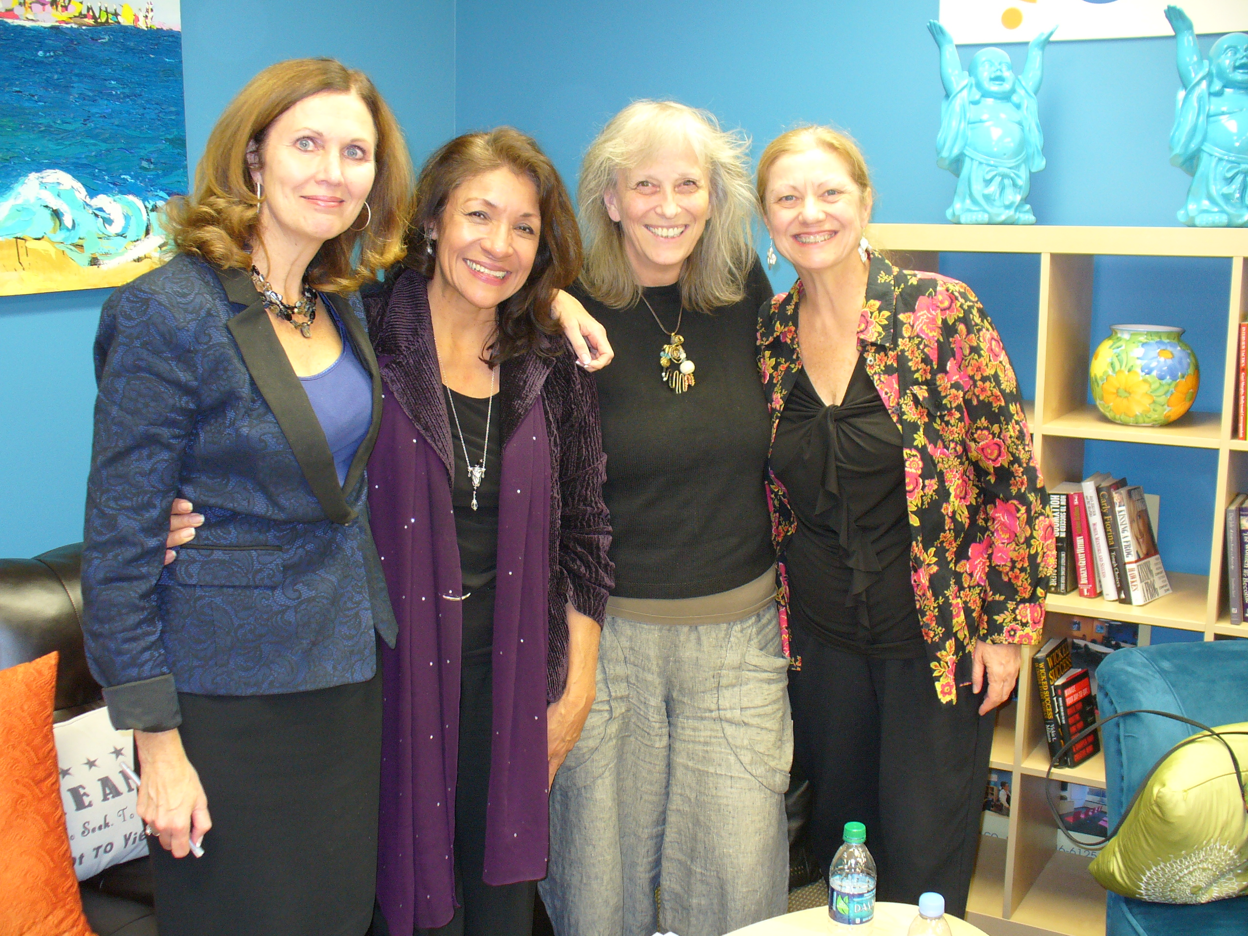 Speaking at Made in the Valley Networking event with (l to r) Libby Gill, Gail Lara, Karrie Ross and Robin Quinn Nov. 19, 2013